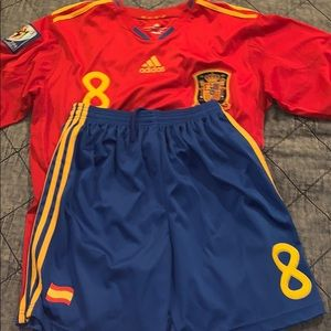 Xavi World Cup 2010 Jersey with shorts